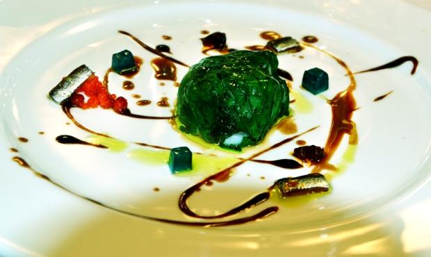 Seafood salad with a bouillabaisse sauce